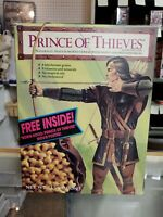 Vintage Robin Hood Prince of Thieves Cereal 11.5 Oz Full Box Factory Sealed