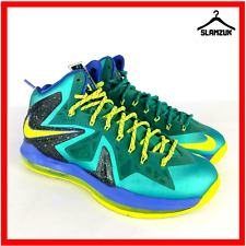 Nike LeBron 10 X PS Elite Sport Turquoise Miami Dade Mens Trainers UK 8.5 / 43