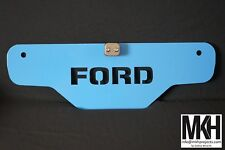 Tractor Weight / Front Tool Box Plate sign with centre line clamp - FORD