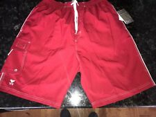 32daa32256a75 NWT TYR Swim Trunks Swimsuit Men's Large Red with Built in Boxers