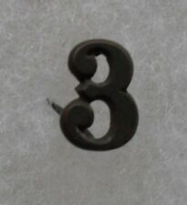 """WWI METAL """"3"""" FOR USMC CAP FOR MARINE COMPANIES IN AEF BRONZE METAL PRONG BACK"""