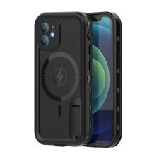 For iPhone 12 Mini Pro Max Waterproof Case With Magnetic Circle Shockproof Cover