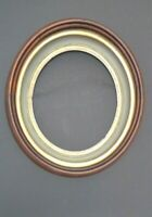 ANTIQUE PRIMITIVE VICTORIAN SOLID WOOD FAT OVAL DOUBLE PICTURE DOVETAIL FRAME