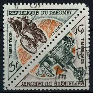 Dahomey 1967 SG#D310-1, 3f Old Morse Receiver, Cycle Postage Due MH Pair #E82475