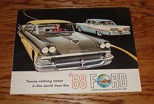 1958 Ford Car Foldout Sales Brochure 58 Fairlane Sedan Victoria