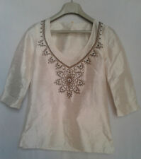 A Priorite' T-shirt Donna Pura Seta tg 42 Made in Italy