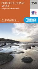 Norfolk Coast West Explorer Map 250 - New - OS - Ordnance Survey