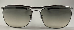 Ray Ban Sunglass NEW RB 3619 Olympian Deluxe ll Color 004/32 Gunmetal Authentic