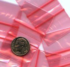 100 Red Apple baggies 1.25 x 0.75 mini ziplock bags 12534 reclosable