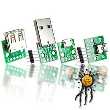 USB to Dip Adapter Break Out male female mini micro inkl. Pins 2.54mm Arduino
