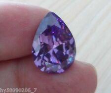 Charming 13X18mm AAAAA Purple Sapphire 18.12ct Pear Faceted Cut VVS Loose Gems