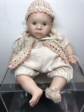 "10"" Berdine Creedy Limited Artist Porcelain & Beanbag Body Baby Brown Eyes #R"