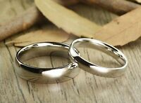 3MM-6MM Silver Stainless Steel Comfort Fit Plain Wedding Band Ring Sizes 5-12