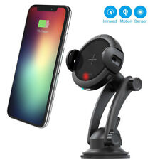 QI Wireless Car Charger Automatic Infrared Induction Phone Holder Cradle Mount