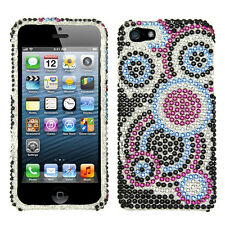 For iPhone 5 5S SE Crystal Diamond BLING Hard Case Snap On Phone Cover Bubble