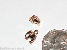 1 Miniature metal little Gold pl Christmas Birthday Present Bow Pendant charm