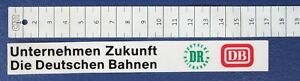Aufkleber DB DR Unternehmen Zukunft ca. 17x2 cm  å