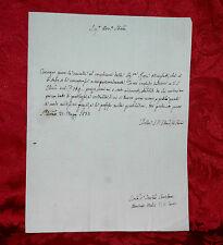 Lettera 1833 Consegna di Cavalle