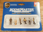 Walthers SceneMaster HO 949-6043 UPS Delivery Parsonnel with Handcart Workers