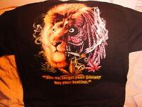 MARIJUANA LEAF LEAVES RASTA LION HEAD SMOKING A JOINT T-SHIRT SHIRT