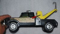 vintage tin toy-Nylint Wrecker truck tow truck  complete with hook