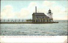 Charlotte NY Lighthouse & Fog Horn c1905 Postcard