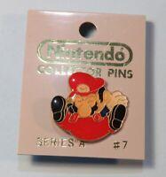 1989 Nintendo Collector Pin Back Button Mario Jumping Sealed NIB ACE #7 NES era