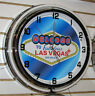 Welcome To Las Vegas Sign Large 2 Ring Neon Clock