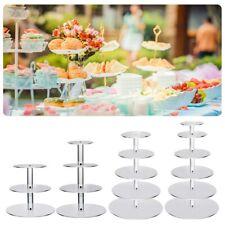 3/4/5/6/7 Tier Clear Circle Round Cake Stand Wedding Birthday Cake Display Racks