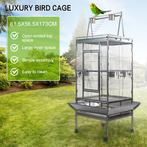 173cm Large Bird Cage Parrot Aviary Pet Budgie Perch Castor w/ Wheels for Travel
