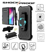 For Samsung Galaxy J2 Pure Core Dash Hybrid Rugged Hard Clip Holster Case Cover