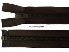 """23/"""" #5 Vislon Open Ended Separable Zip MID BROWN C318"""