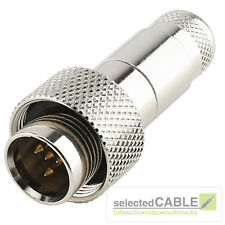 Hicon MINI- XLR 4 BROCHES FICHE Homme Pro IP67 ACIER MAX Ø de câble 4,9mm