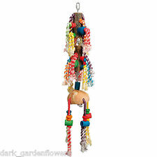 Rainbow Twirl Large Parrot Toy Macaw Cockatoo Coconut and Wood