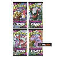 Pokemon Unified Minds 4 Sealed Booster Packs | Trading Card Game Sun & Moon