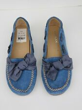GEOX Respira Suede Driving Mocs Penny Loafers BLUE womens EU 39 US 9  Excellent