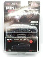 Mini GT 1/64 2017 Honda Civic Type R FK8 (Crystal Black)  Diecast Model MGT00015