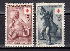 FRANCE FRANCIA 1955 Au Profit de la Croix-Rouge MNH**