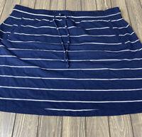 Torrid Womens Navy Blue White Stripe Skirt Size 3