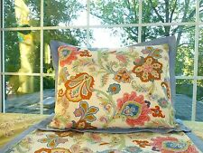 One Tommy Hilfiger Blue Coral Paisley Standard Pillow Sham (2 available)