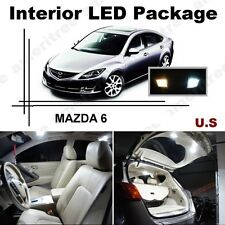 White LED Lights Interior Package Kit for Mazda 6 2014 & up ( 11 Pcs )