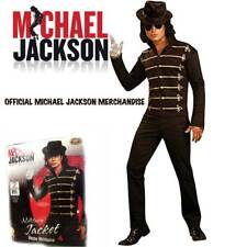 Official Michael Jackson Merchandise Military Jacket Black Gold Adult Costume XL