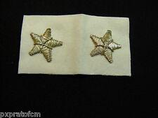Coppia di Stellette Argento su panno bianco Esercito Italiano
