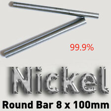 Nickel Ni 99.9% Round Bar Rod For Electroplating Anode 8x100mm Element AU Stock