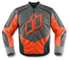 Icon Mens Overlord Pro Textile Street Riding Motorcycle Jacket-Orange-SM