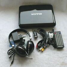 """Wonnie 9.5"""" Tragbarer DVD Player W-928BK - inkl. Kopfhörer Schwarz"""