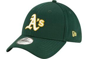 Oakland Athletics A's Hat New Era 39Thirty 3930 Flex Fit Cap Size M/L Green MLB