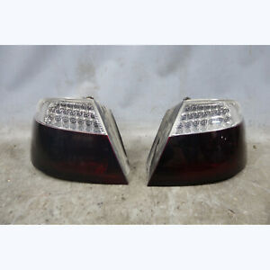 2003-2006 BMW E46 Convertible Rear LED Tail Light Pair Smoked White Clear OEM
