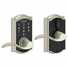 Schlage Camelot Touchscreen Electronic Door Lock with Accent Lever Satin Nickel
