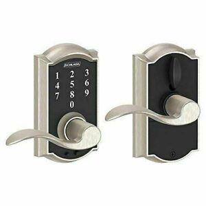 Schlage FE695 CAM 619 ACC Keyless TouchScreen Lever - Satin Nickel